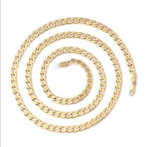 "Other - 18K Gold Plated Necklace Chain Mens Jewelry 24""NEW"