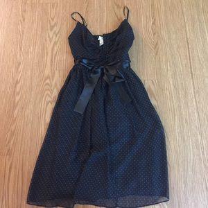 Forever 21- black pokadot dress