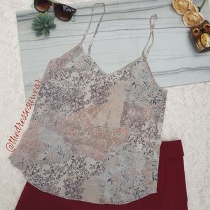 Wilfred Floral Patchwork Silk Camisole Xs.