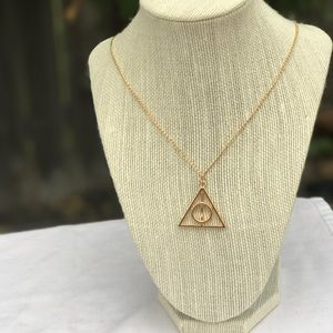Jewelry - Gold Harry Potter Deathly Hallows Necklace