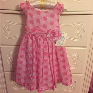 Pink Polk a dot dress