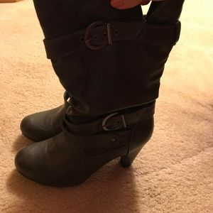 Barely worn heeled boots