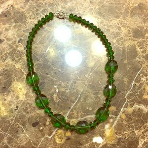 NEW Green Beaded Statement Necklace