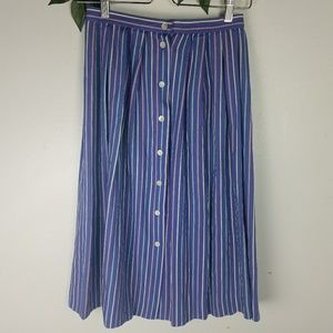 Vintage button down high waist fit & flare skirt