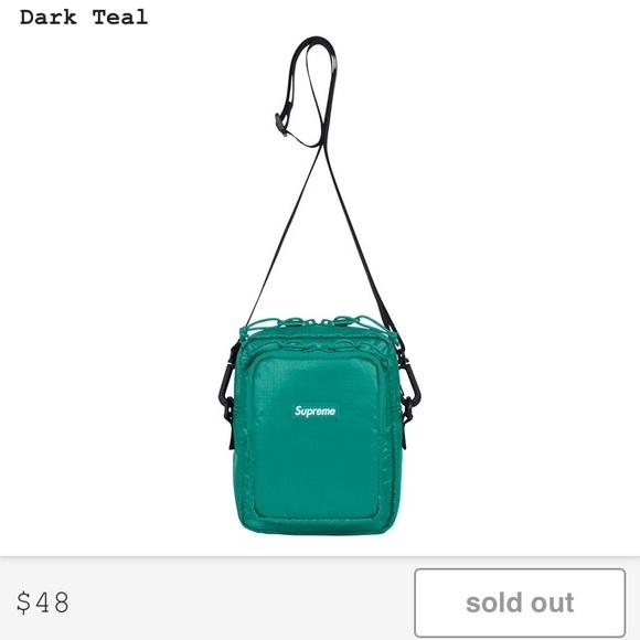 60905eddc697 Supreme Dark Teal Shoulder Bag Fw 17