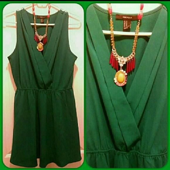 c32bde9b2bb Forever 21 Dresses & Skirts - ⚡LOWEST⚡ 🆕Forever 21 🌠 Emerald City Dress
