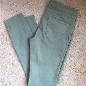 Denim - Light Teal Skinny Jeans