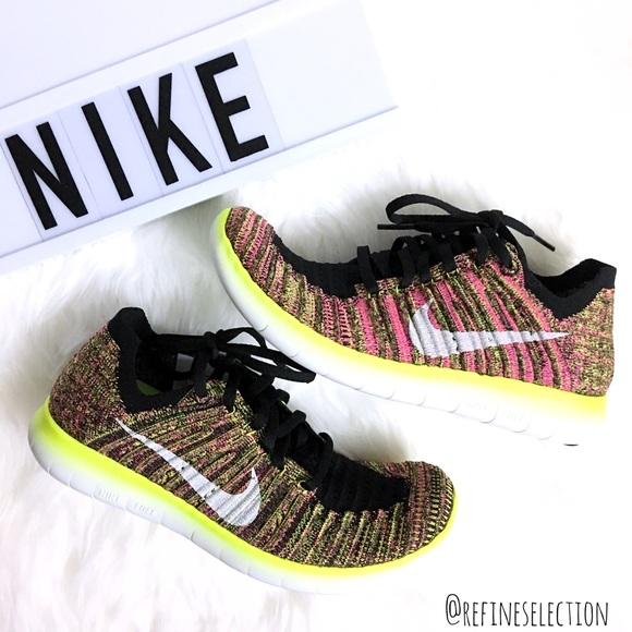 2fbc964a8d1dd8 Nike Free RN Flyknit OC Multi Colored Sneakers