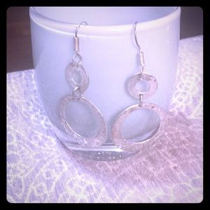 Jewelry - Hammered silver earrings