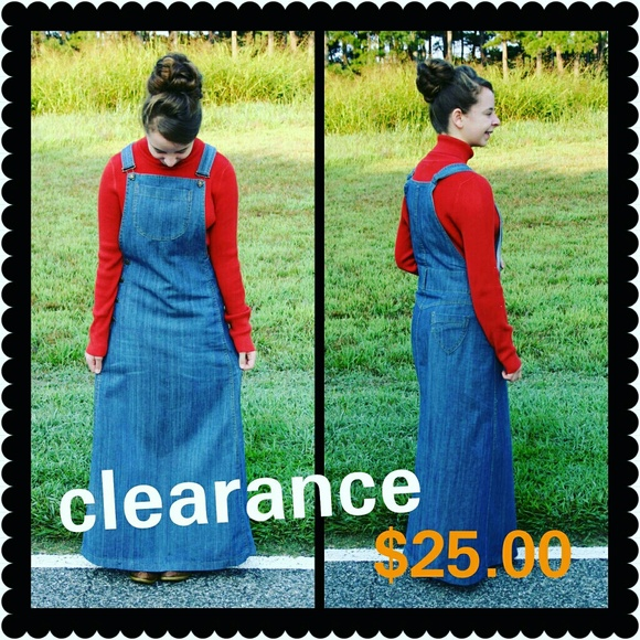 3162a637d4 RARE! overall dress. Modest. no splits. Price FIRM