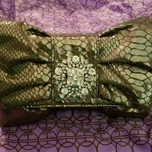 Iman clutch with dust bag