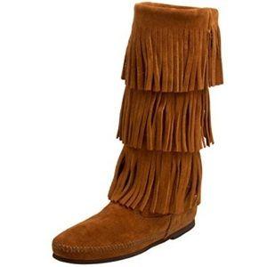 Minnetonka Shoes - Minnetonka Fringe Knee High Boot