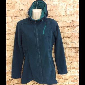 🔽3️⃣0️⃣ Athleta teal/green coat w/hood & zip  XS