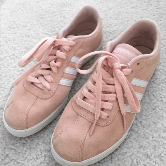 purchase cheap 29be0 45464 Adidas Neo Suede Courtset Sneakers in Blush 7.5 ...