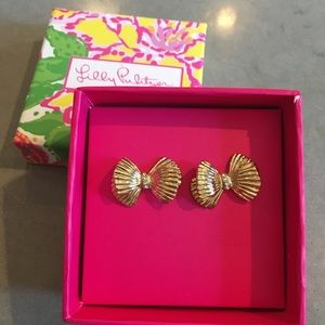 NWT Lilly Pulitzer bow earrings