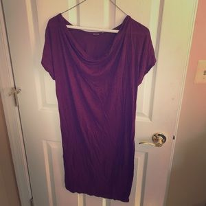 LA Made Maroon T-shirt dress