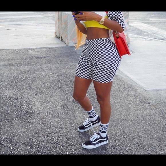 Shorts Checkerboard Biker Poshmark