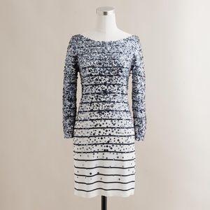 J Crew Sequin Stripe Confetti Dress
