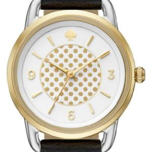 Kate Spade Boathouse White Dotted Dial Watch NWT