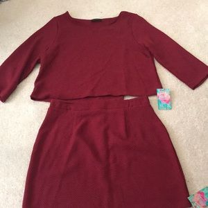 NWT 2pc Crop Top and Skirt Set!!!!