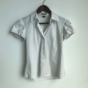 Theory short sleeve button down top