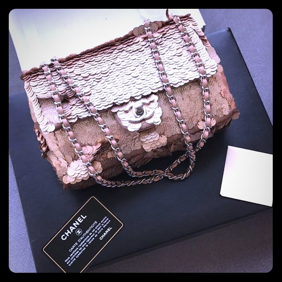 a7b939f2b5e8 CHANEL Bags   Classic Limited Edition Pink Sequined Bag   Poshmark