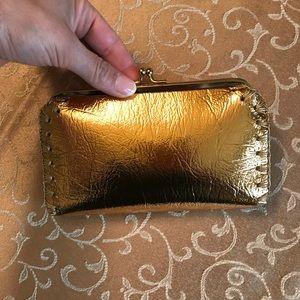 Handbags - Gold Lame Clutch