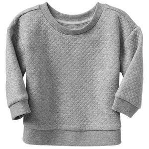 NWOT Gap toddler quilted sweatshirt