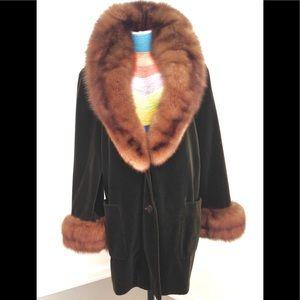 BILL BLASS Mink/Velvet Vintage Coat