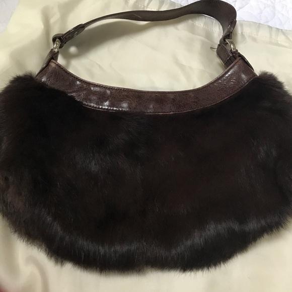 50569efda6 Kenneth Cole Handbags - FUN AND STYLISH KENNTH COLE FAUX FUR BROWN BAG