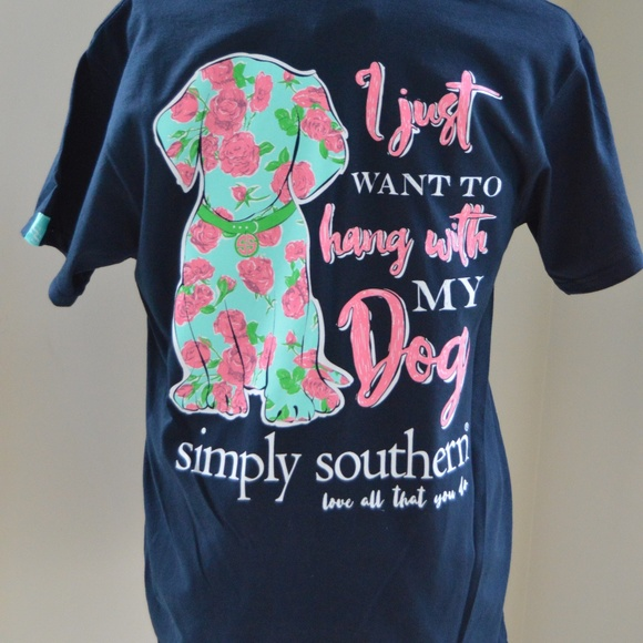 1d14ef030 Simply Southern Tops   Tees Hang With My Dog T Shirts   Poshmark