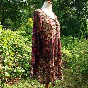Dresses & Skirts - Bohemian long sleeve dress