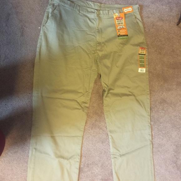 f09572e9 Wrangler Pants | Nwt Mens Advanced Comfort Khaki Pant | Poshmark
