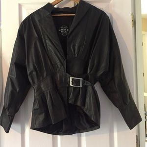 Jackets & Blazers - Vintage Western Style Leather Jacket