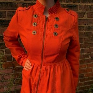 Tulle Rust colored Fall Jacket Dress, M