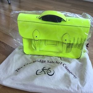RARE Cambridge Satchel backpack in Yellow
