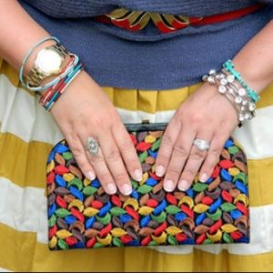 Handbags - Vintage Multi Colored Bag/Clutch with Strap