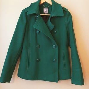 Kelly Green Pea Coat 💚