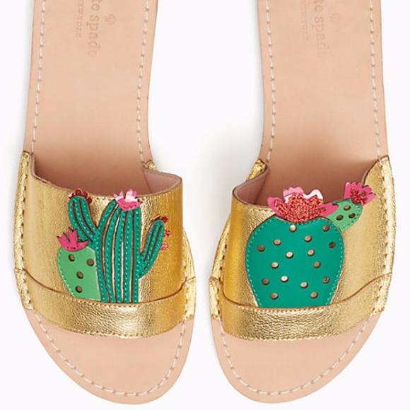 999b3c3a9e21 NEW Kate Spade Iguana Cactus Slide Sandals
