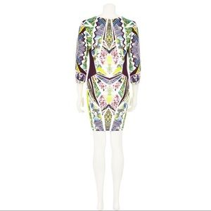 River Island Yellow Graphic Print Bodycon Dress