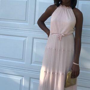 Blush glittery prom/homecoming dress
