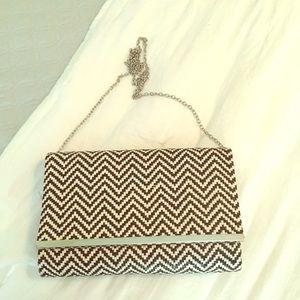 Handbags - NWOT Black/White Crossbody/Clutch