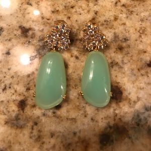 louise et cie Jewelry - Nwt Louise et Cie jade and jewel drop earrings
