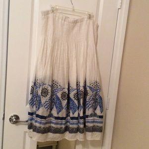 Coldwater Creek Summer Lined Long Flair Skirt