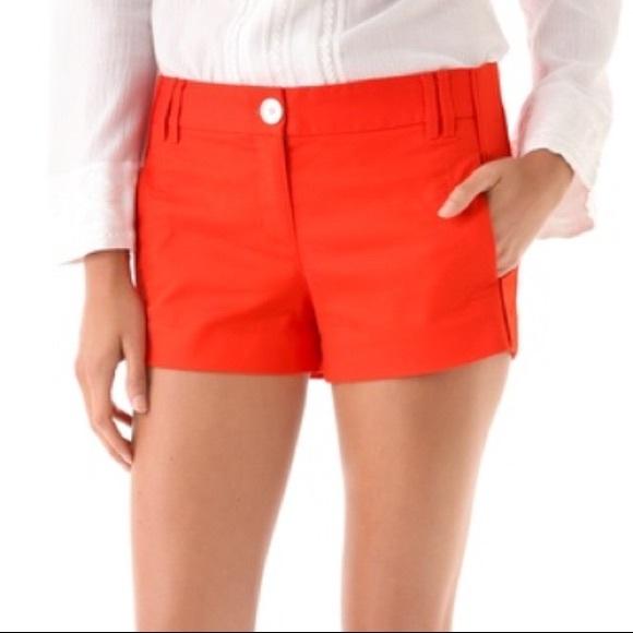 Tory Burch Shearer Orange Shorts