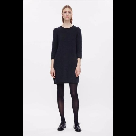 f9513c1955b26 COS Dresses | Raised Knit Dress Size S Navyblack | Poshmark