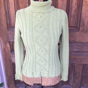 Super cute Green Turtleneck Sweater