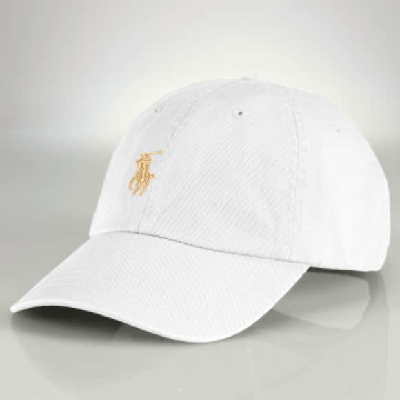 NWT Polo Ralph Lauren Custom White   Gold Dad Hat fb4f300c234