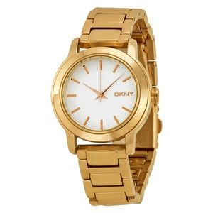 NWT DKNY ny2210 Gold Plated Stainless Steel Watch