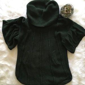 BCBGMaxAzria Dark Green Cowl Neck Sweater
